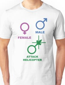 Attack Helicopter Gender Unisex T-Shirt