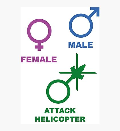 Attack Helicopter Gender Photographic Print