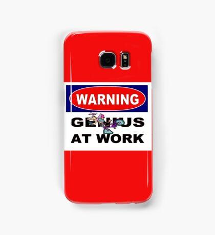 WARNING GENIUS AT WORK;Comical Print Samsung Galaxy Case/Skin