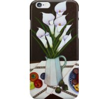 Still life with Callas iPhone Case/Skin