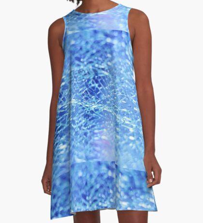 Blue Splash A-Line Dress