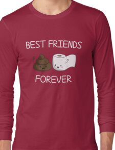 Best Friends Forever Poop Emoji T-shirt Cool Emoticon Tshirt Long Sleeve T-Shirt