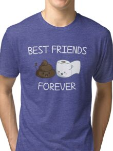 Best Friends Forever Poop Emoji T-shirt Cool Emoticon Tshirt Tri-blend T-Shirt