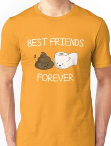 Best Friends Forever Poop Emoji T-shirt Cool Emoticon Tshirt Unisex T-Shirt