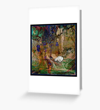 My Precious kitty in a abstract  Greeting Card