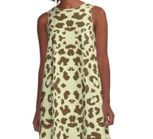 Wild Cat Skin Camouflage Army Pattern Dress Duvet Skirt Top A-Line Dress