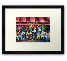 CAFE IN PARIS - Leonid Afremov Framed Print