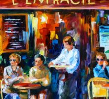 CAFE IN PARIS - Leonid Afremov Sticker
