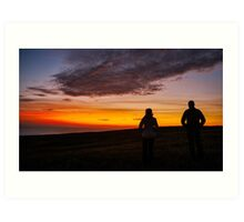 Witnessing a Donegal Sunset Art Print