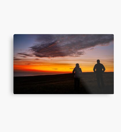 Witnessing a Donegal Sunset Metal Print