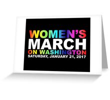 Women's March on Washington Greeting Card
