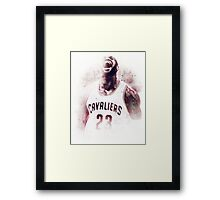 Lebron James Cleveland Basketball Art Finals Champions Framed Print