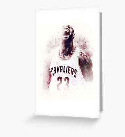 Lebron James Cleveland Basketball Art Finals Champions Greeting Card
