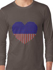 Patriotic Heart Long Sleeve T-Shirt