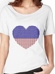 Patriotic Heart Women's Relaxed Fit T-Shirt