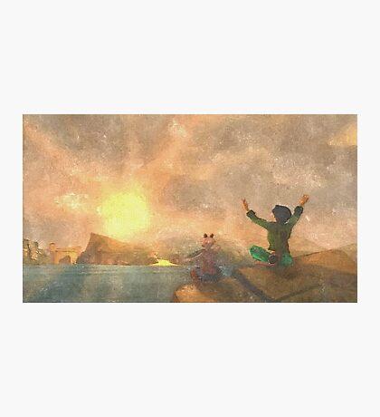 Yoga face to the Sun - 瑜伽面对太阳 Photographic Print