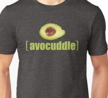 Avocado Cuddle Avocuddle Photo Vegetable Illustrated Pun for Vegans Vegetarians Funny Unisex T-Shirt