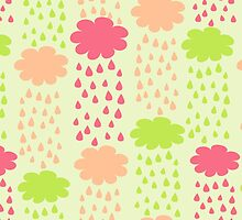Cartoon Childish Cloud Pattern by kotopes