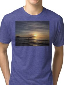 Sunset in Naples Beach Tri-blend T-Shirt