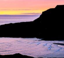 Sunset at Beefan Mountain - Glencolmcille, Ireland Sticker