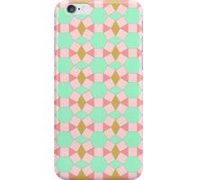 Tessellation peach aqua gold iPhone Case/Skin
