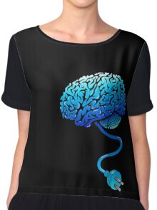 Your Brain without Coffee - Blue Chiffon Top