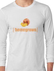 Homegrown Gardeners Gardening Peaches Local Produce Farmers Non GMO Graphic Tee Shirt Long Sleeve T-Shirt