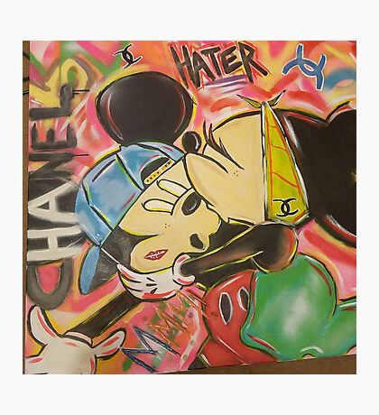Channel minni and mickey Photographic Print