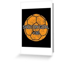Rocket Leaugue Video Game Shot On Goal +30 Funny Gifts Greeting Card