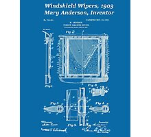 Mary Anderson - Windshield Wipers - Blueprint Photographic Print