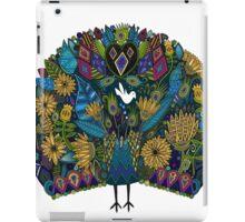 peacock garden white iPad Case/Skin