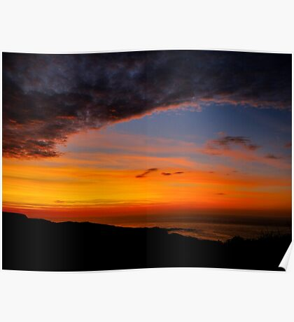 Sunset over the Atlantic - Glencolmcille, Ireland Poster