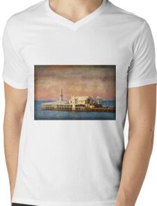Cunningham Pier at Geelong Mens V-Neck T-Shirt
