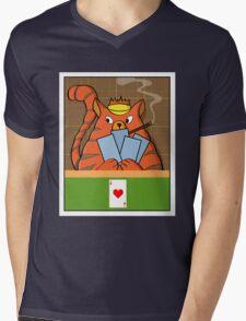 Cat Poker Mens V-Neck T-Shirt