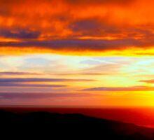 Sunset  - Glencolmcille, Ireland Sticker