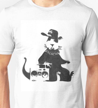 Banksy Gangster Rat Watercolor Unisex T-Shirt