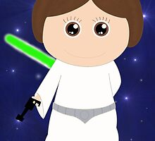 When I grow up, I will be a princess (and a little bit Jedi) by Titelo