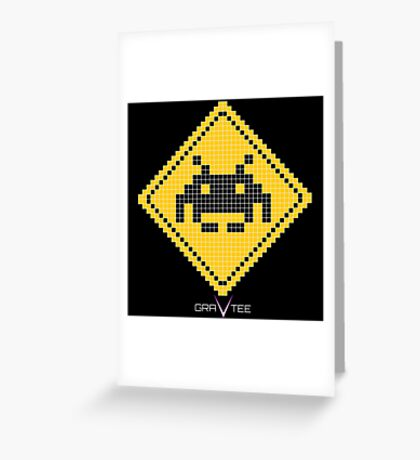 Space Invader Xing Greeting Card