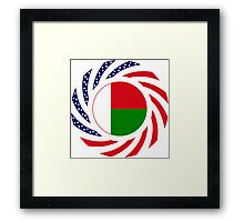 Madagascan American Multinational Patriot Flag Series Framed Print