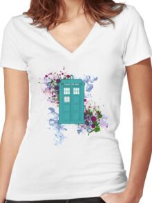 Where Would You Like to Start? - Doctor Who Women's Fitted V-Neck T-Shirt