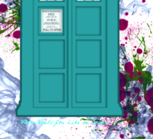 Where Would You Like to Start? - Doctor Who Sticker