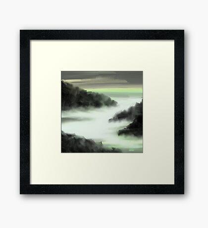 vale of fog Framed Print