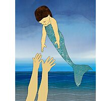 Triton tossing his mermaid daughter Photographic Print