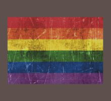 Vintage Aged and Scratched Rainbow Gay Pride Flag Kids Clothes