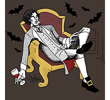Sherlock - Vampire AU (colour version) Photographic Print