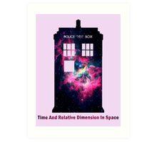 Space TARDIS - Doctor Who Art Print