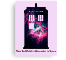 Space TARDIS - Doctor Who Canvas Print