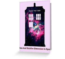 Space TARDIS - Doctor Who Greeting Card