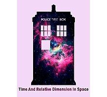 Space TARDIS - Doctor Who Photographic Print