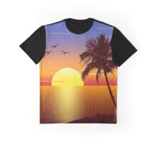 Sunset at tropical beach Graphic T-Shirt